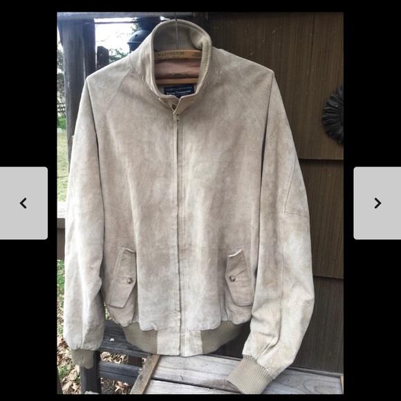 Leather Bomber Jacket Vintage Suede